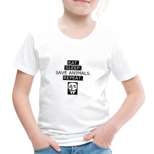 Eat Sleep Save Animals - T-shirt Premium Enfant