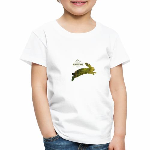 Adventure Outdoor Jäher Hase (White) - Kinder Premium T-Shirt