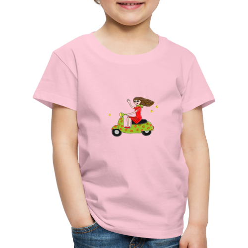 Mit dem Moped in den Sommer - Kinder Premium T-Shirt