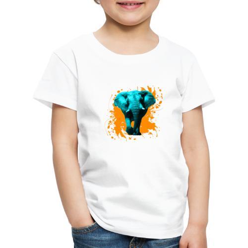 Elefant in Türkis - Kinder Premium T-Shirt