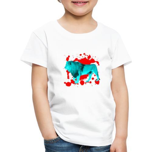 Löwe in Türkis - Kinder Premium T-Shirt