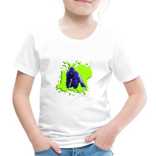 Blue Green Gorilla - Kinder Premium T-Shirt