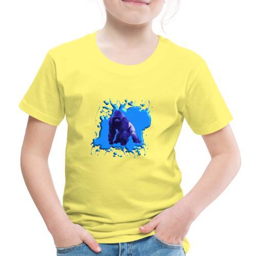 Blauer Gorilla - Kinder Premium T-Shirt