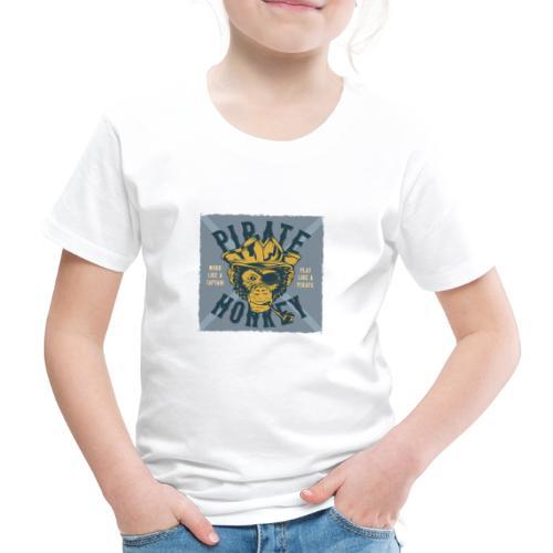 Pirate Monkey - Kinder Premium T-Shirt