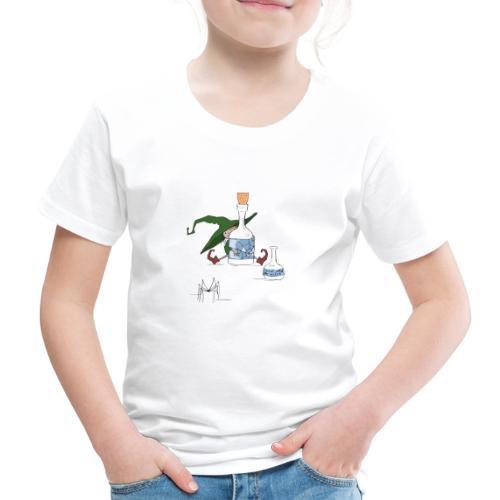 Witch Green Halloween Scene - Kinder Premium T-Shirt