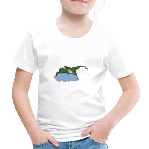 Grüne Hexe schläft auf einer Wolke - Kinder Premium T-Shirt
