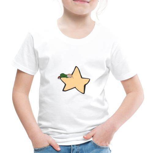 Green Witch sleeping at a Star - Kinder Premium T-Shirt