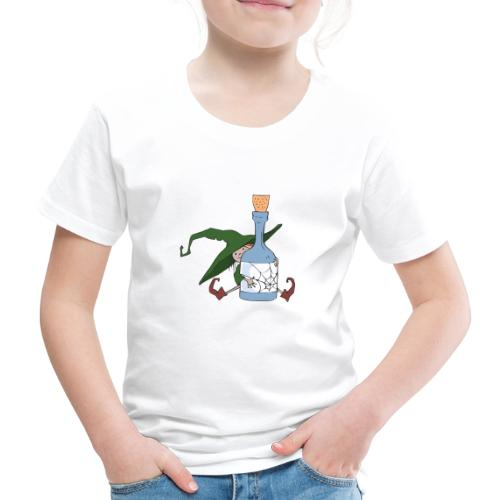 Green Witch with Bottle - Kinder Premium T-Shirt