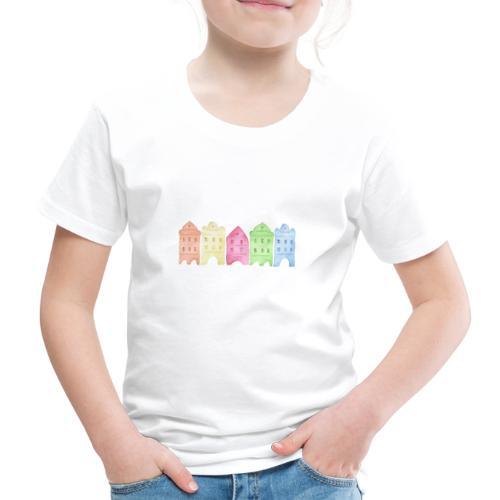 Watercolor Houses - Kinder Premium T-Shirt