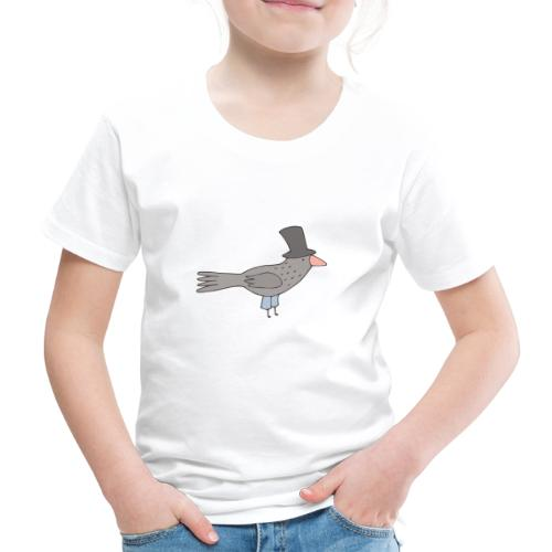Crow with Hat - Kinder Premium T-Shirt