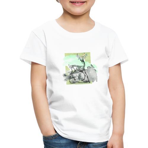 Flowery Deer Skeleton - Kinder Premium T-Shirt
