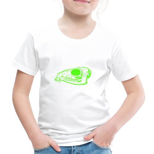 Grüner Säbezahnhirsch Schädel - Kinder Premium T-Shirt