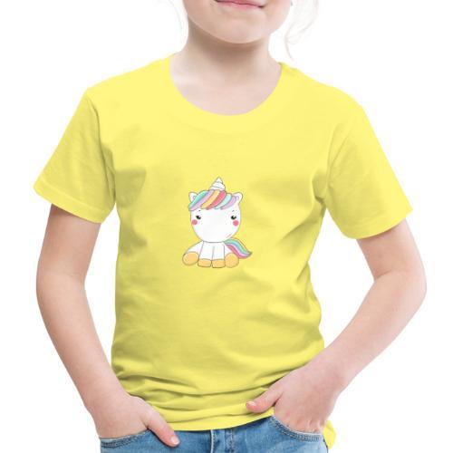 Niedliches Zauber Kawaii Einhorn in Pastelfarben - Kinder Premium T-Shirt