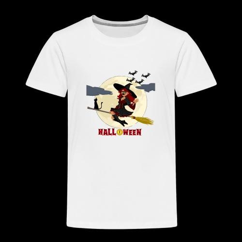 Halloween - Hexe auf Besen - Kinder Premium T-Shirt
