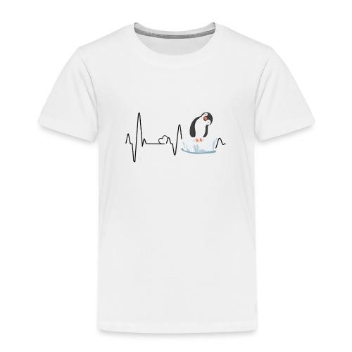 Heartbeat inguin - Kinder Premium T-Shirt