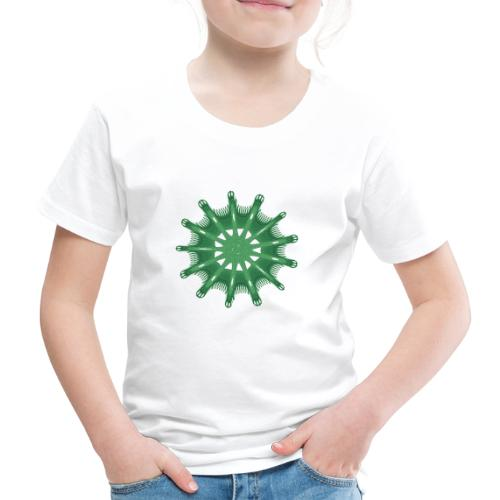 grünes Steuerrad Grüner Seestern 9376alg - Kinder Premium T-Shirt