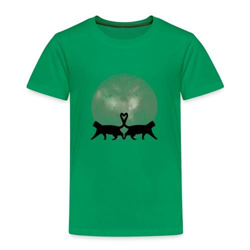 Cats in the moonlight - Kinderen Premium T-shirt