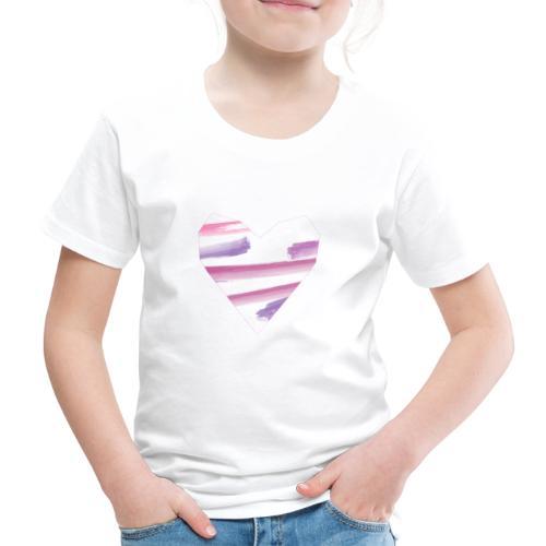 Aquarell Herz - Kinder Premium T-Shirt