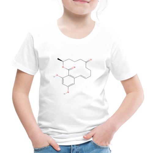 Zearalenone Molecule - Colored Structural Formula - Børne premium T-shirt