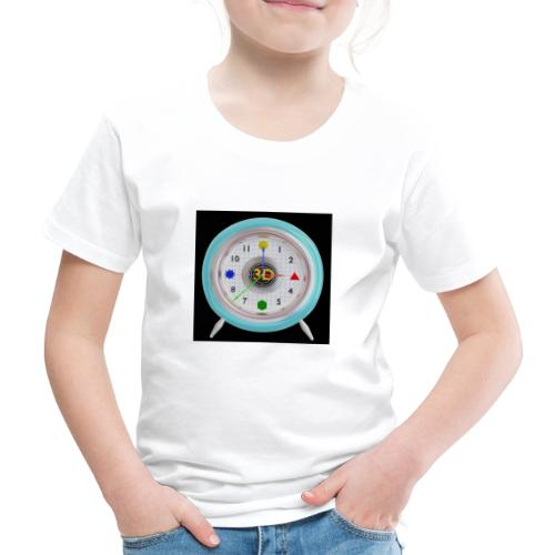 3D O' Clock with 3D engine and objects. - Kids' Premium T-Shirt