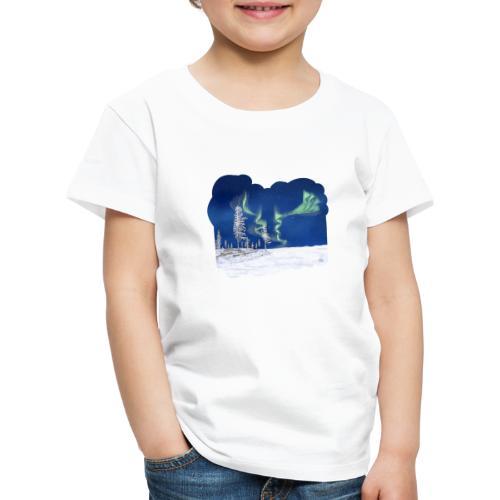 hiver avec des aurores boréales - T-shirt Premium Enfant