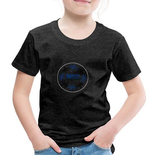 Badge Reunion Island Bleu - T-shirt Premium Enfant
