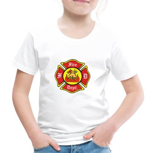 Feuerwehrschild-Fire-Dept - Kinder Premium T-Shirt