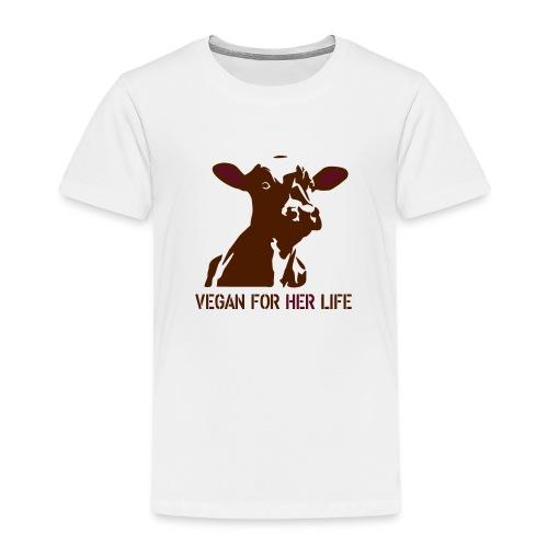 vegan for her life - Kinder Premium T-Shirt