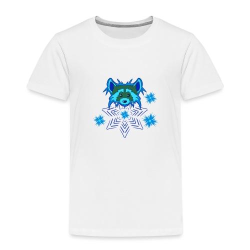 Snow Raccoon - Kinder Premium T-Shirt