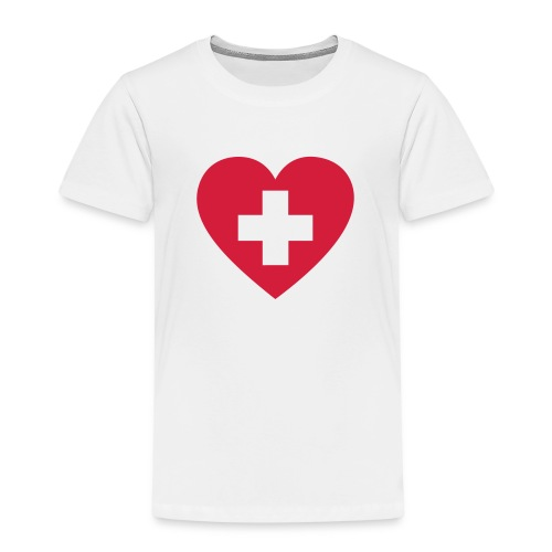 Swiss heart - Kinder Premium T-Shirt