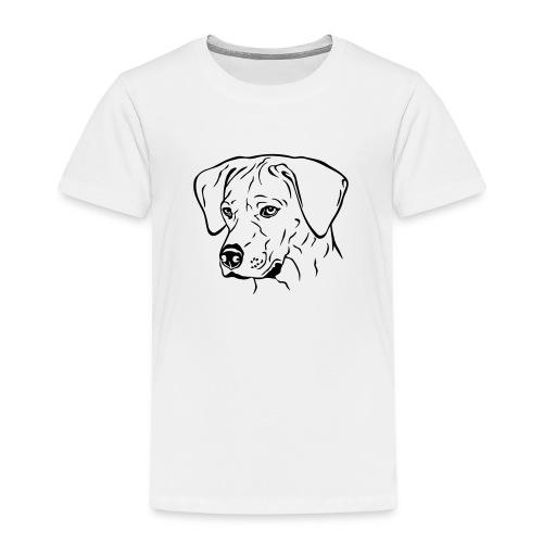 Rhodesian Ridgeback Hündin Kopf schwarz - Kinder Premium T-Shirt