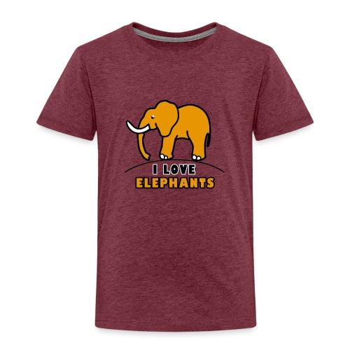 Elefant - I LOVE ELEPHANTS - Kinder Premium T-Shirt
