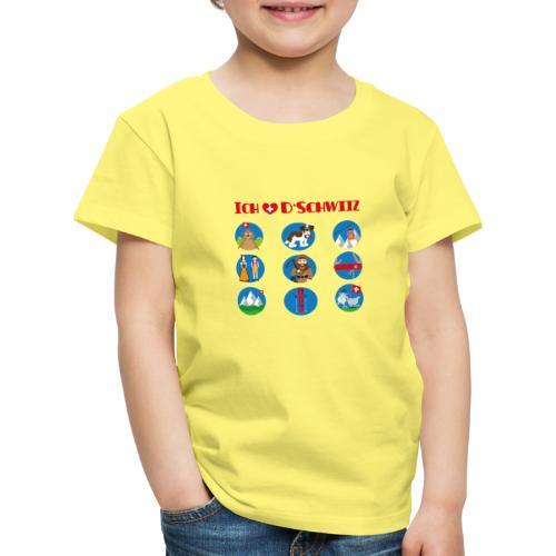 Ich liebe d'Schwiiz - Kinder Premium T-Shirt