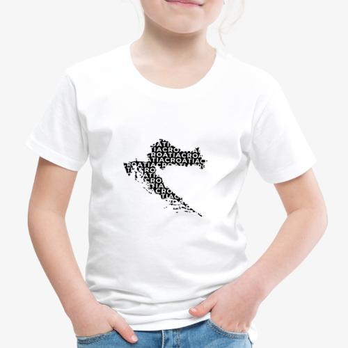 From Croatia with Love - Croatian map hrvatska bla - Kinder Premium T-Shirt