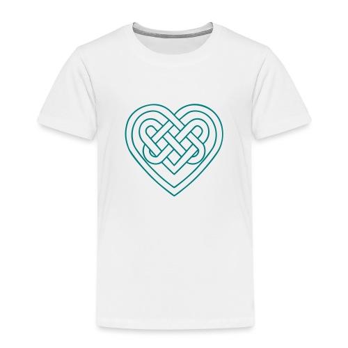 Keltisches Herz, Endlos Knoten, Liebe & Treue - Kinder Premium T-Shirt