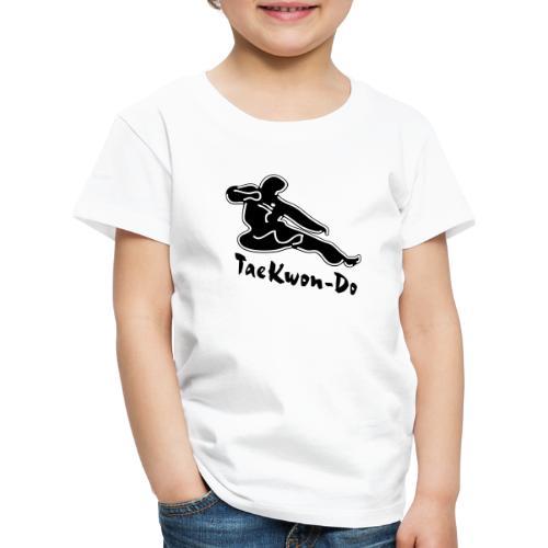 Taekwondo flying kicking man - Kids' Premium T-Shirt