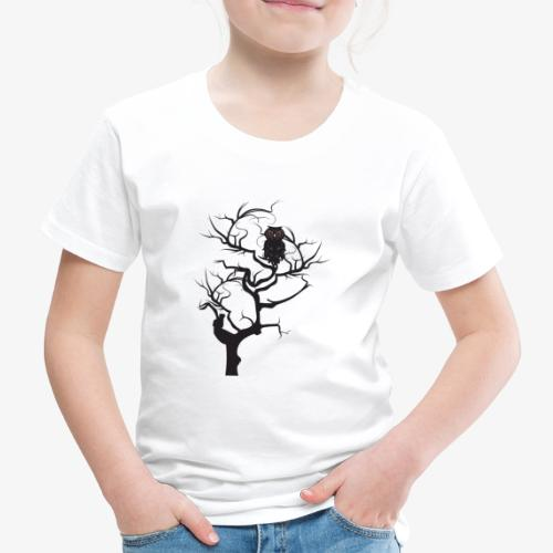 Black owl in the tree - Kids' Premium T-Shirt