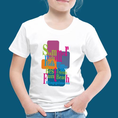 Summer Feeling.png - Kinder Premium T-Shirt