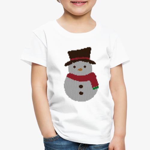 Ugly Sweater - Snowman - Kinder Premium T-Shirt