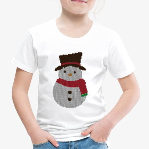 Ugly Sweater - Snowman - Kinder Premium T-Shirt