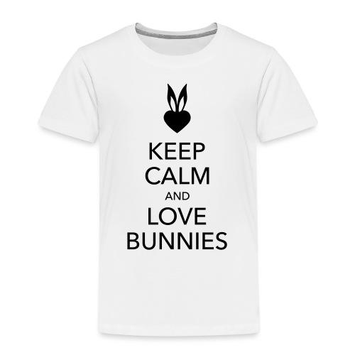 keep calm and love bunnies Hasen Liebe Herz - Kinder Premium T-Shirt