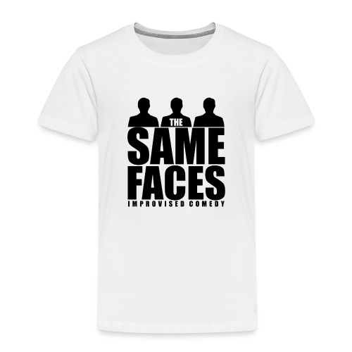 Same Faces Logo - Black - Kids' Premium T-Shirt