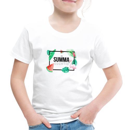 Vorschau: I bin summa süchtig - Kinder Premium T-Shirt
