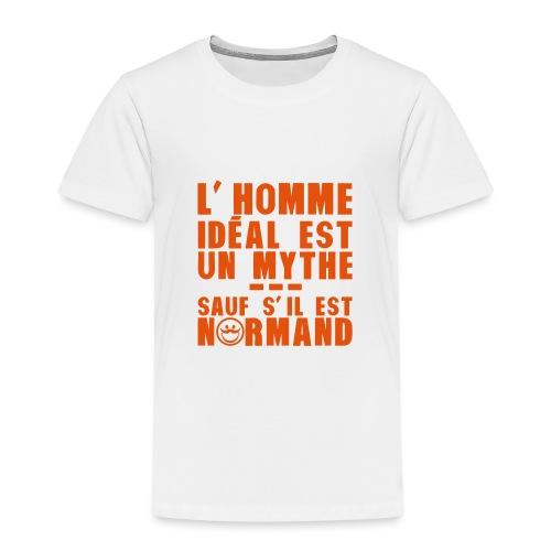 normand homme ideal mythe humour citatio - T-shirt Premium Enfant