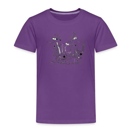 Flere musikere svartstrek png - Premium T-skjorte for barn
