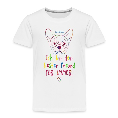 Bester Freund Frenchie - Französische Bulldogge - Kinder Premium T-Shirt