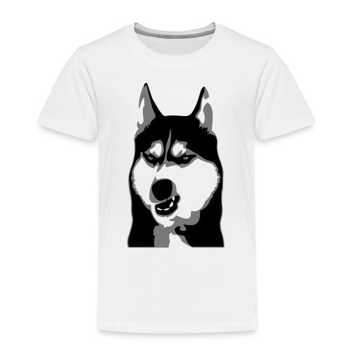 Grumpy Dog - Husky - Kinder Premium T-Shirt