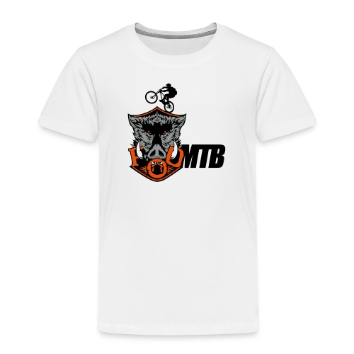 master boar full colour with mtbcom and - Kids' Premium T-Shirt