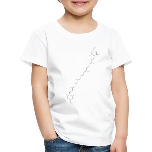 Xanthophyll Molecule - Colored Structural Formula - Børne premium T-shirt