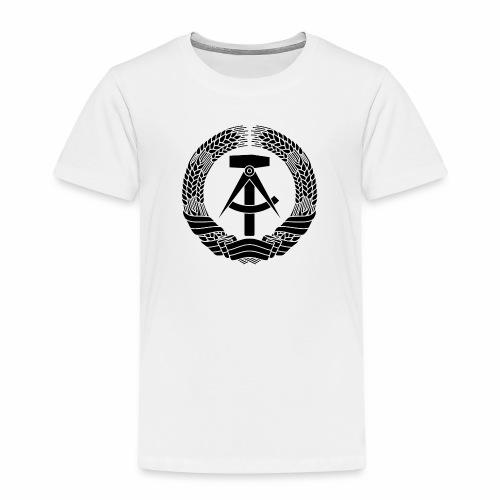 DDR coat of arms (black) - Kids' Premium T-Shirt